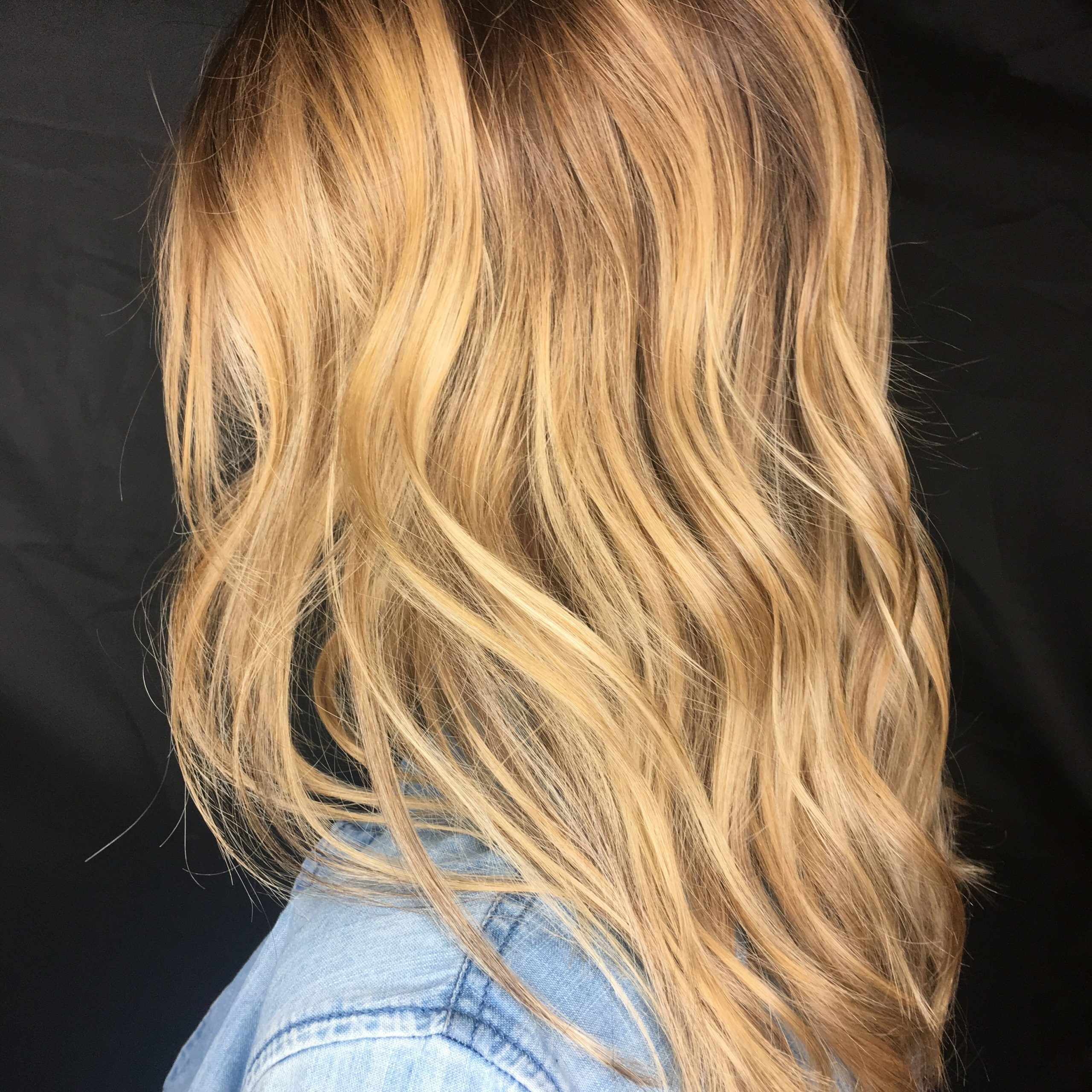 Popular Golden Blonde Balayage On Long Curls Hairstyles Inside Honey Blonde, Blonde Hair, Balayage And Babylights, From (View 14 of 20)