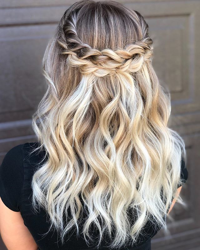 Popular Light Pink Semi Crown Braid Hairstyles With Regard To Kitchener Hairstylist (@jessamberhair) • Instagram Photos (View 2 of 20)