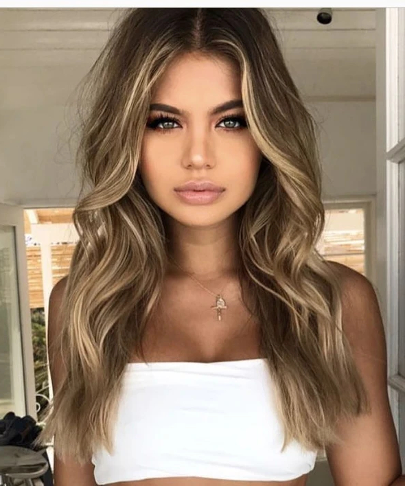 Popular Long Dark Brown Curls Hairstyles With Strawberry Blonde Accents Intended For 2020 Fashion Blonde Wigs Lace Frontal Hair Strawberry (View 14 of 20)