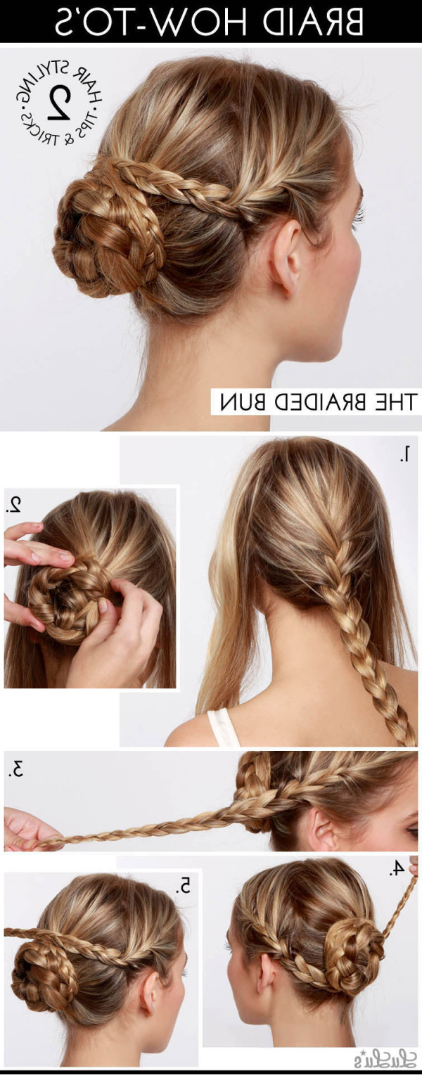 Popular Reverse Braided Buns Hairstyles Intended For Top 10 Popular Bun Hairstyles 2019 Trends/ Tutorial Step (View 18 of 20)