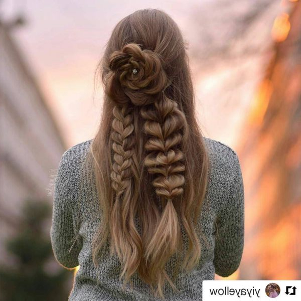 Popxo Inside Latest Rolled Roses Braids Hairstyles (View 18 of 20)