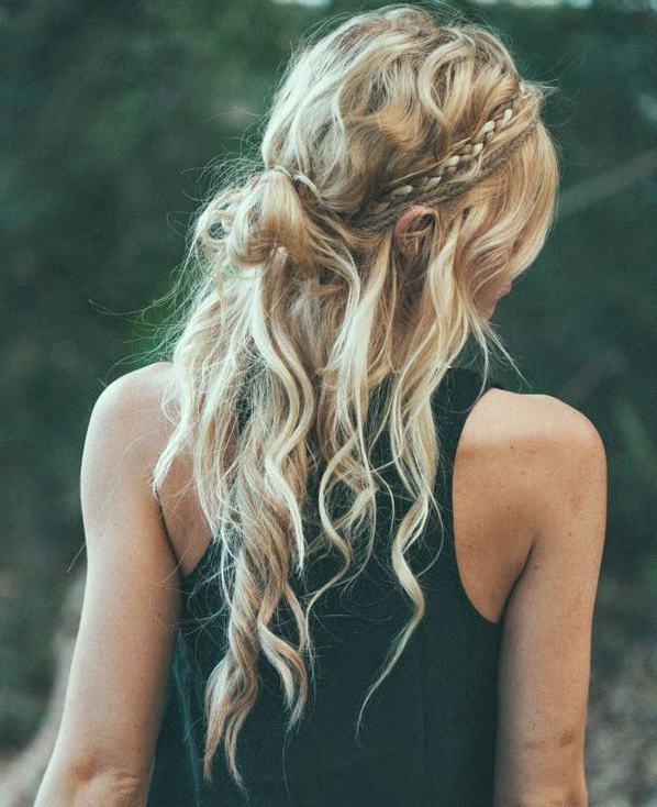 Preferred Boho Braided Half Do Hairstyles For 10 Easy Festival Hairstyle Ideas From Pinterest (View 14 of 20)