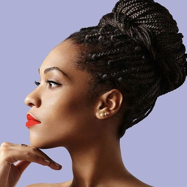 Preferred Braided Beautiful Updo Hairstyles Throughout Best Braided Bun Hairstyles Ideas To Try (september 2020) (View 6 of 20)