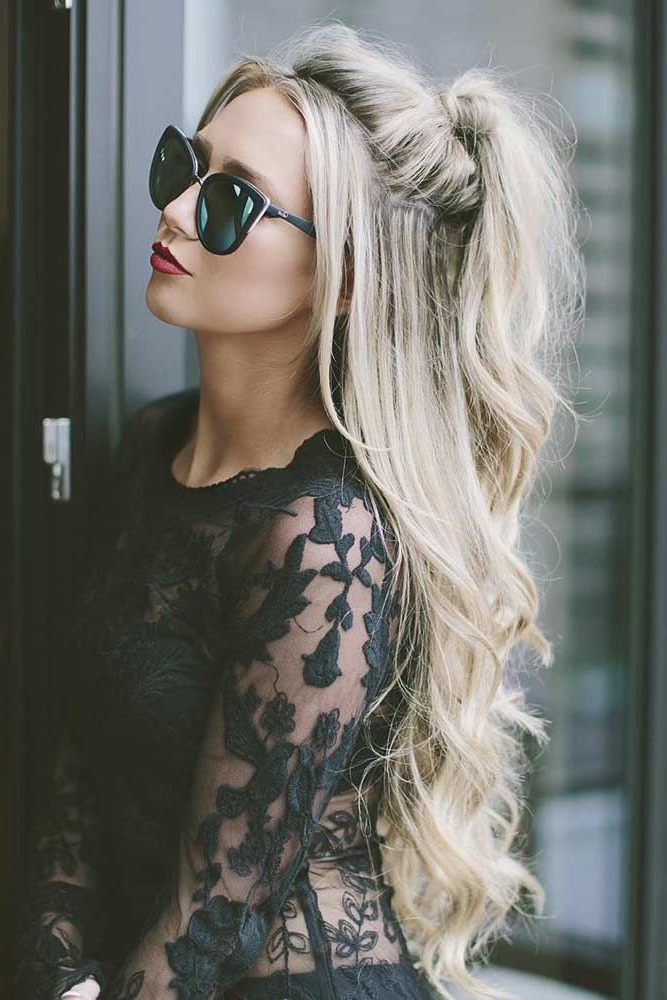 Preferred Loose Highlighted Half Do Hairstyles With 35 Miraculous Ideas For Half Ponytail Upgrade (View 13 of 20)