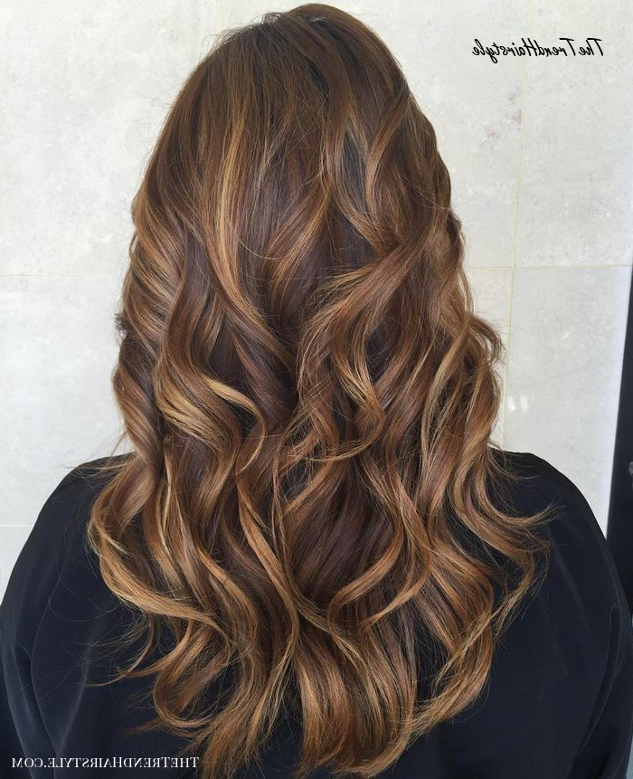 Preferred Natural Curls Hairstyles With Caramel Highlights For Caramel With Blonde – 60 Looks With Caramel Highlights On (View 3 of 20)