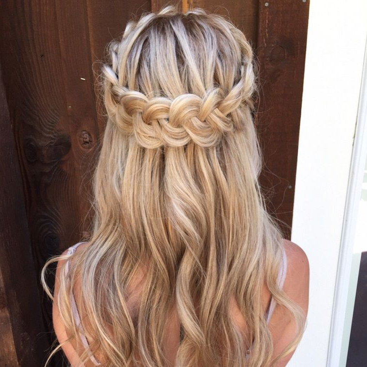 Pretty Half Up Half Down Hairstyles – Partial Updo Wedding In Most Up To Date Boho Braided Half Do Hairstyles (View 13 of 20)