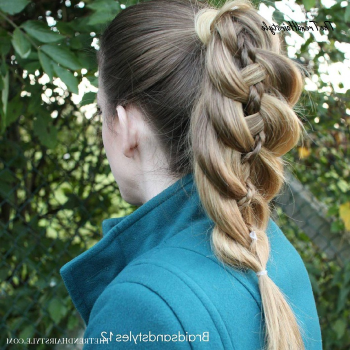 Pretty Wrapped Pony Braid – How To: 4 Strand Braid Within Most Popular Four Strand Braid Hairstyles (View 11 of 20)