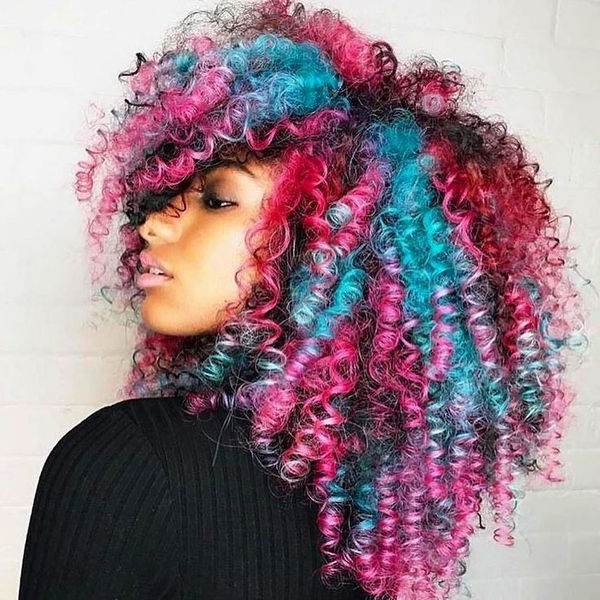 Purple Hairstyles, Best Light Blue Hair Color Ides With Regard To Most Up To Date Hot Pink Highlights On Gray Curls Hairstyles (View 9 of 20)