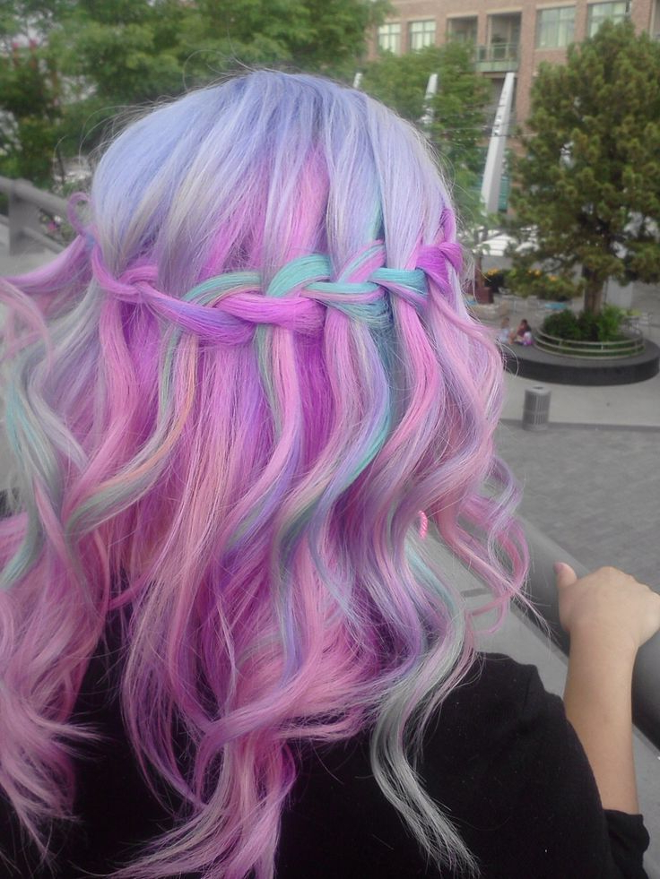 Rainbow Ombre Mermaid Inspired Hair (View 2 of 20)