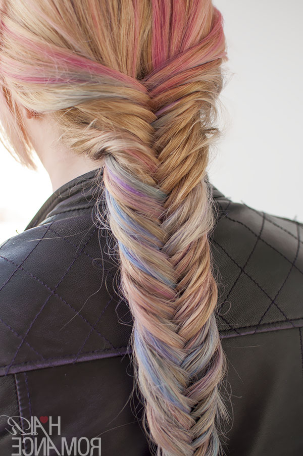 Recent Boho Fishtail Braid Hairstyles Inside Hairstyle Tutorial: How To Do A Fishtail Braid – Hair Romance (View 13 of 20)