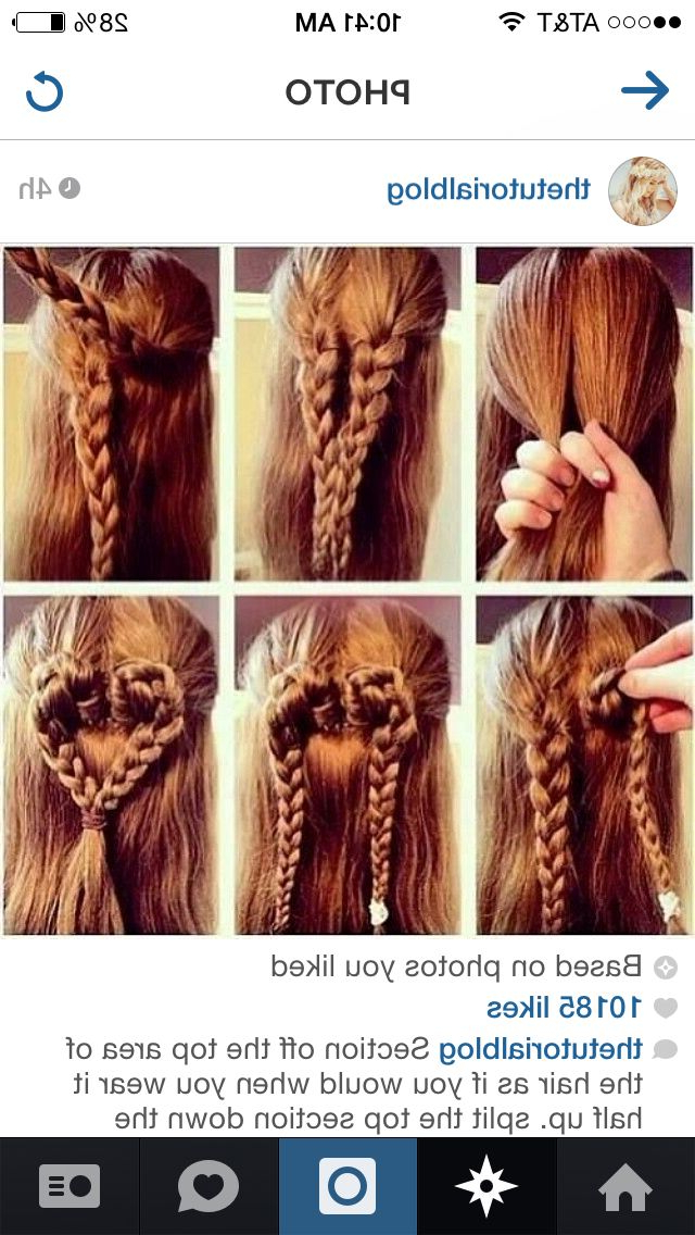 Recent Heart Braids Hairstyles For Heart Braid (View 16 of 20)