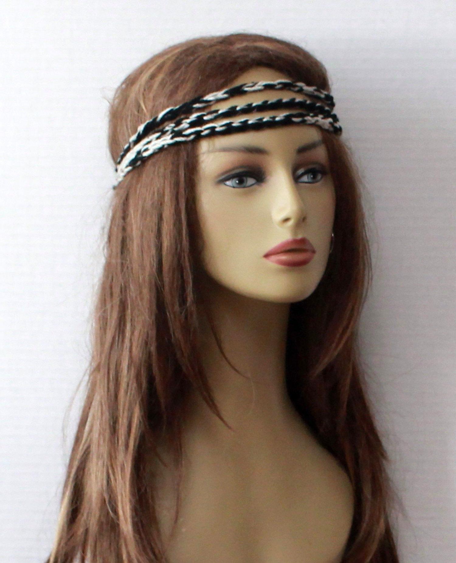 Recent Hippie Braid Headband Hairstyles Within Hippie Headbands Set Of 3 Headbands, Bohemian Headbands (View 15 of 20)