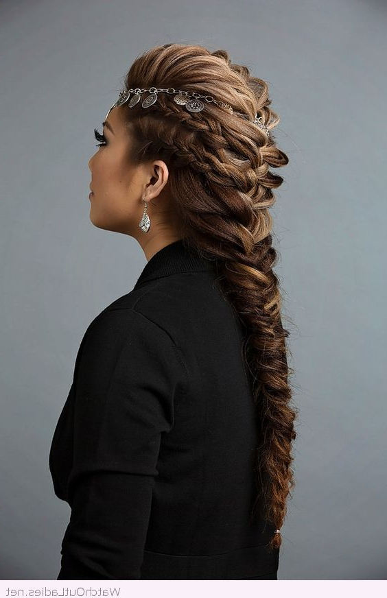 Recent Mohawk French Braid Hairstyles Inside French Braid Mohawk Hairstyle With An Awesome Accessory (View 14 of 20)