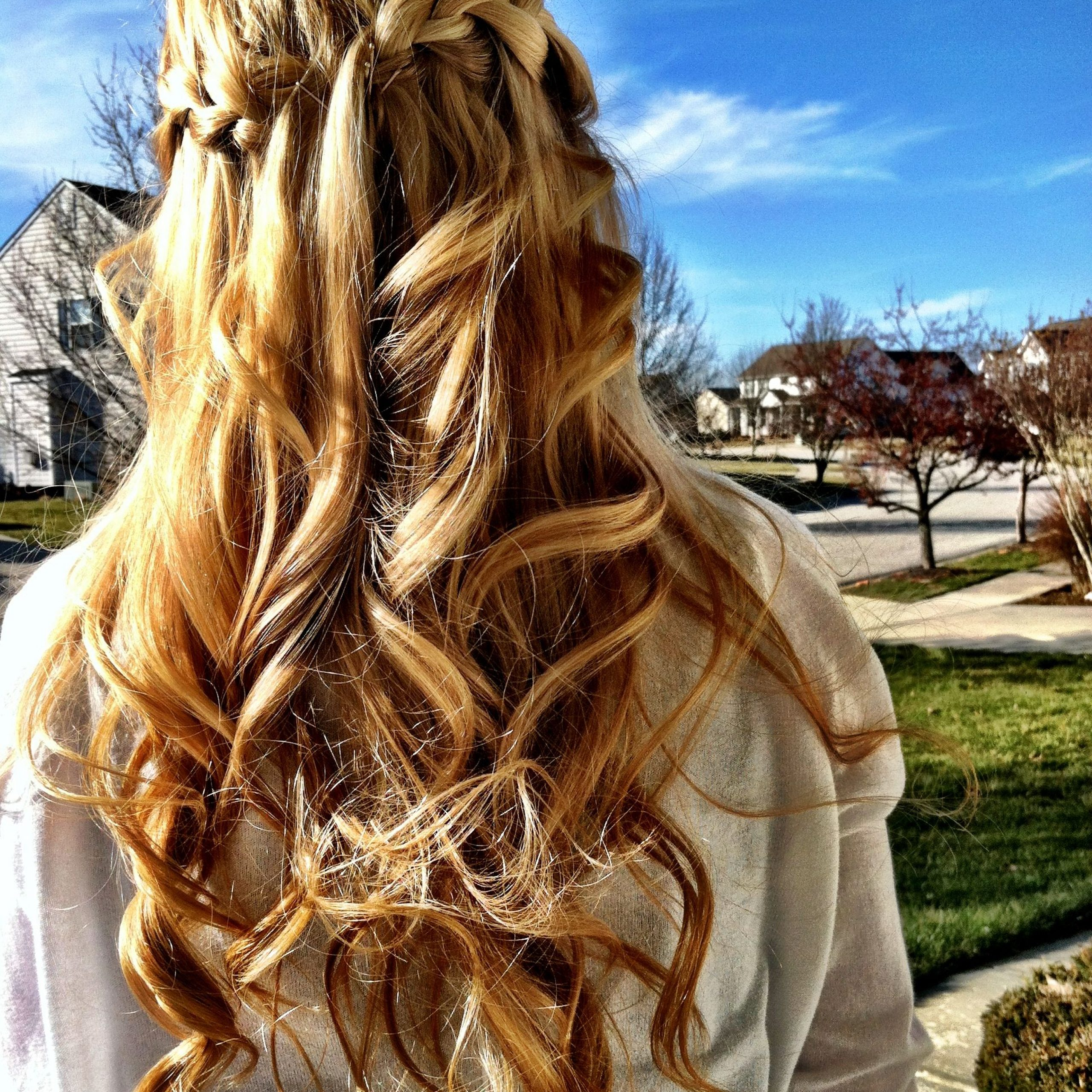 Recent The Waterfall Braid Hairstyles Throughout Connected Waterfall Braid (View 3 of 20)