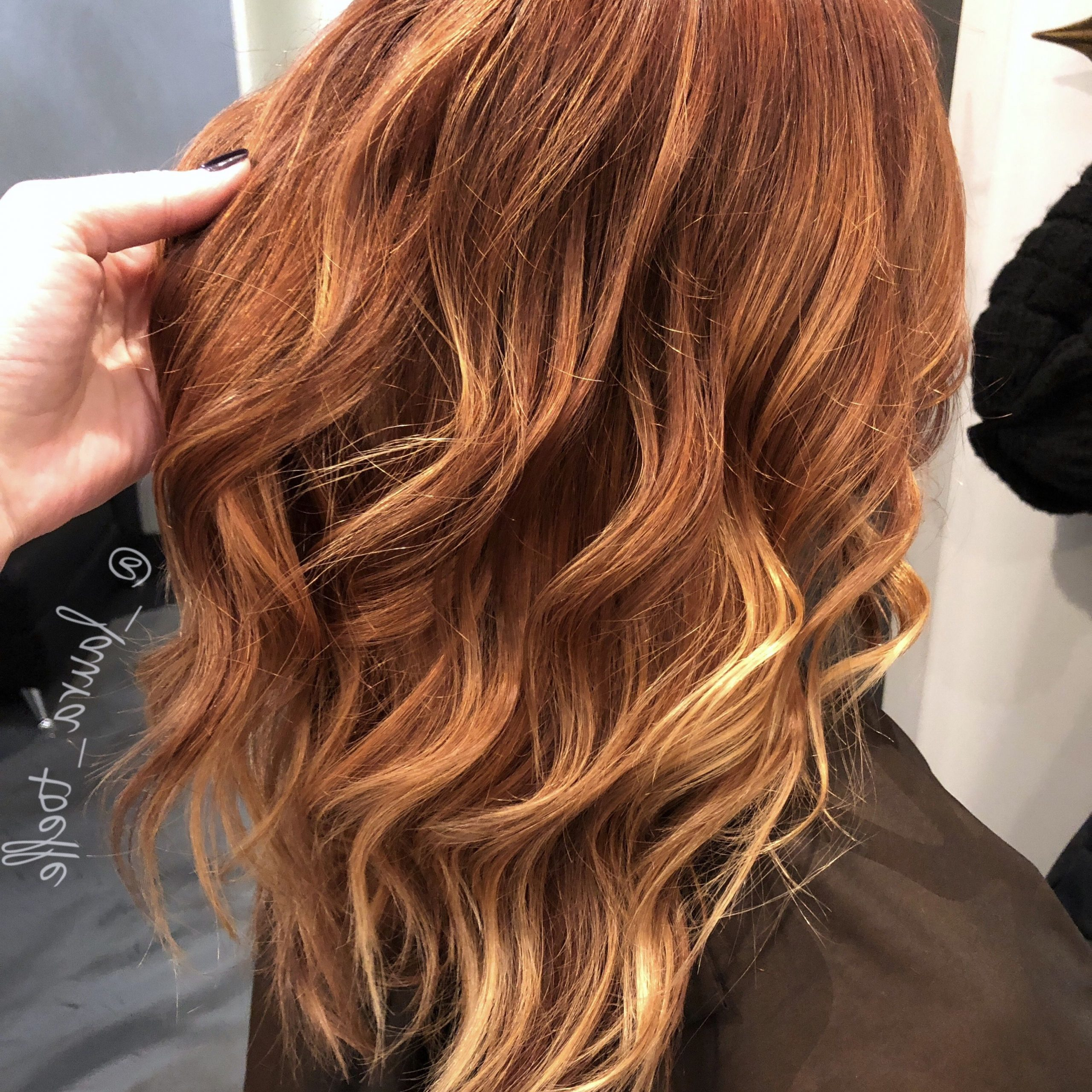 Red Hair. Balayage. Copper Color (View 11 of 20)