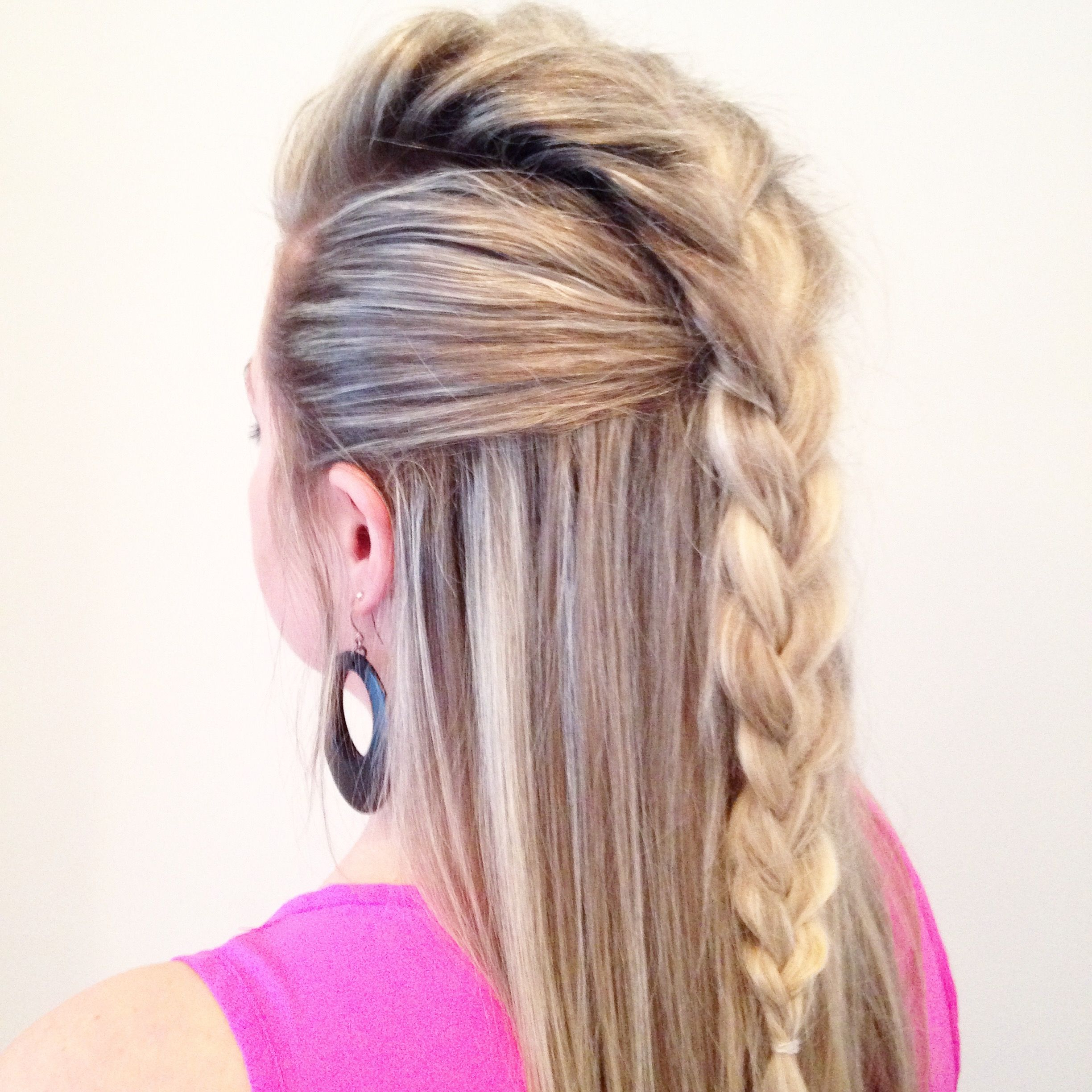Rock Hairstyles Pertaining To Fashionable Mohawk French Braid Hairstyles (View 11 of 20)