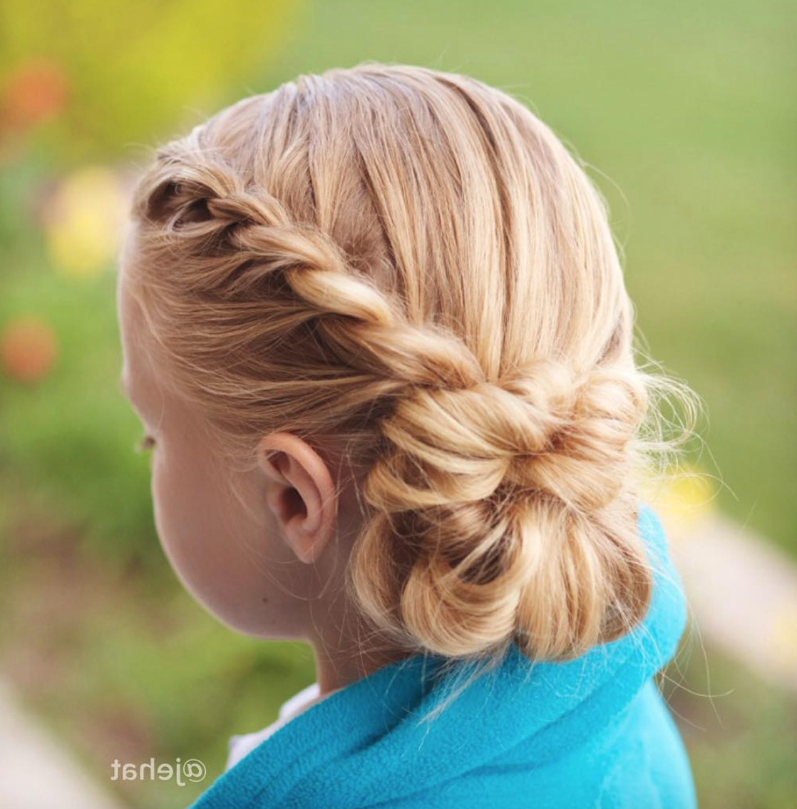 Rope Twist Into Low Side Messy Bun (View 10 of 20)