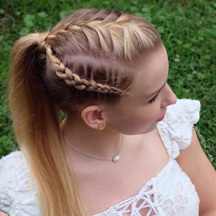 Side Braid Ponytail Hairstyle 2017 – Styles 7 In Widely Used Pancaked Side Braid Hairstyles (View 3 of 20)