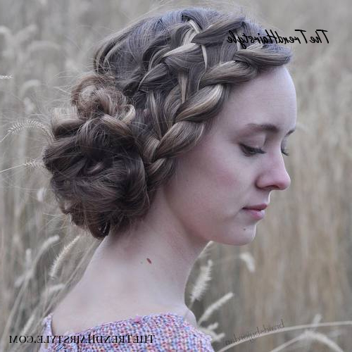 Side Bun With Double Loose Braid – 40 Two French Braid Intended For Famous Loose Double Braids Hairstyles (View 18 of 20)