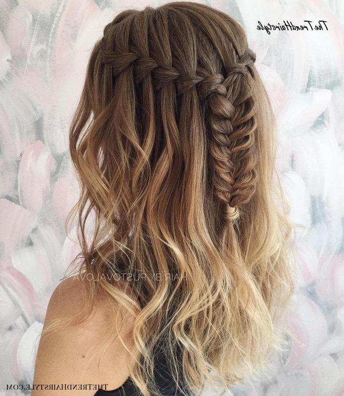 Side Waterfall Braid – 40 Flowing Waterfall Braid Styles For Favorite The Waterfall Braid Hairstyles (View 11 of 20)