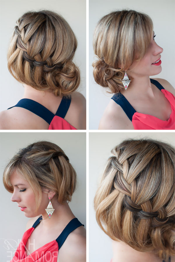 Soft Loose Waterfall Braided Bun – Romantic Updo For Your Throughout Favorite Loose Double Braids Hairstyles (View 14 of 20)