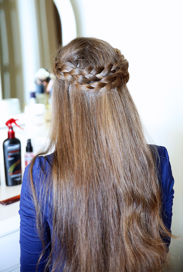 Southern Curls & Pearls: Easy Crown Braid Tutorial With Newest Light Pink Semi Crown Braid Hairstyles (View 16 of 20)