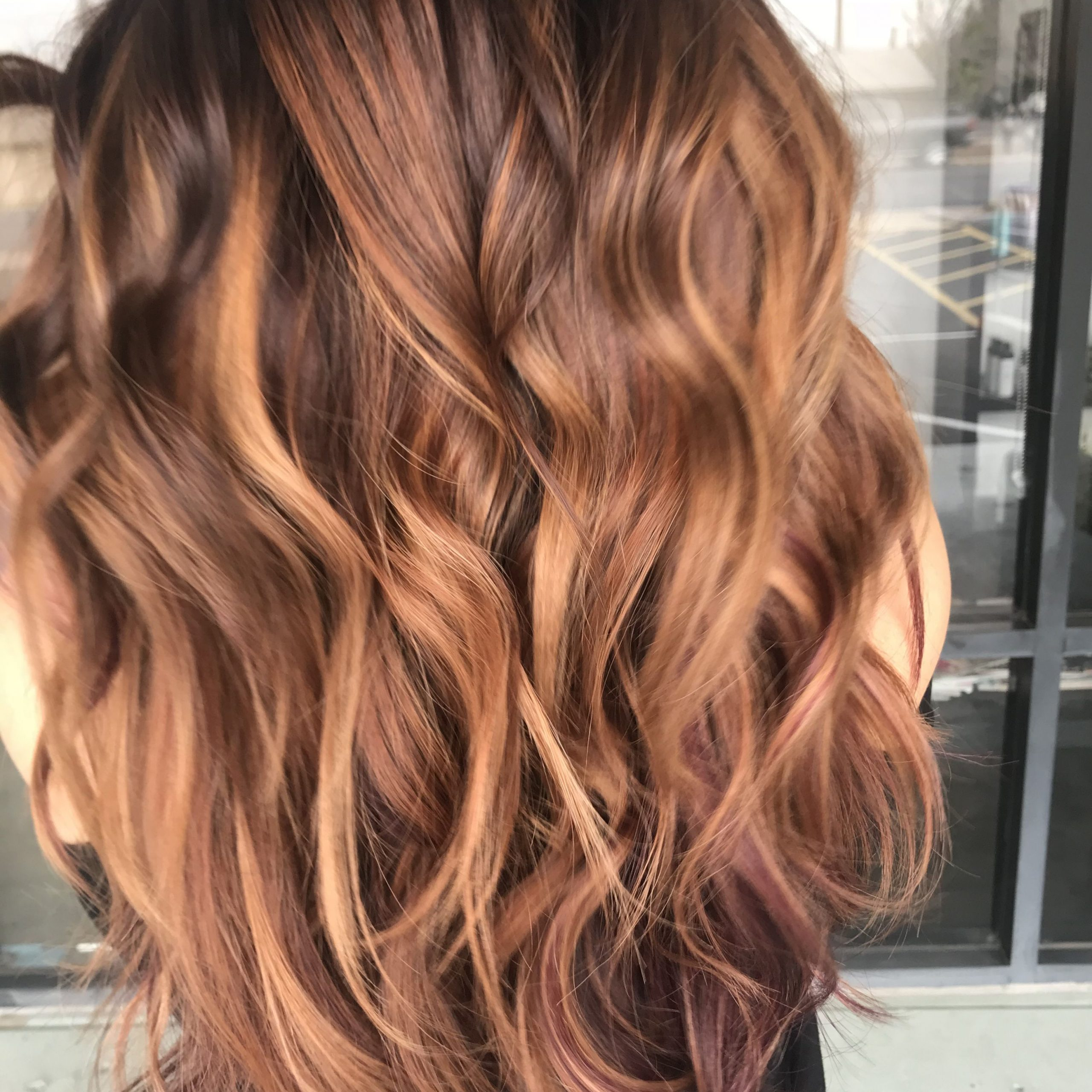 Spiced Cinnamon, Rich Chocolate, Color Melted Into Regarding Favorite Curls Hairstyles With Honey Blonde Balayage (View 15 of 20)