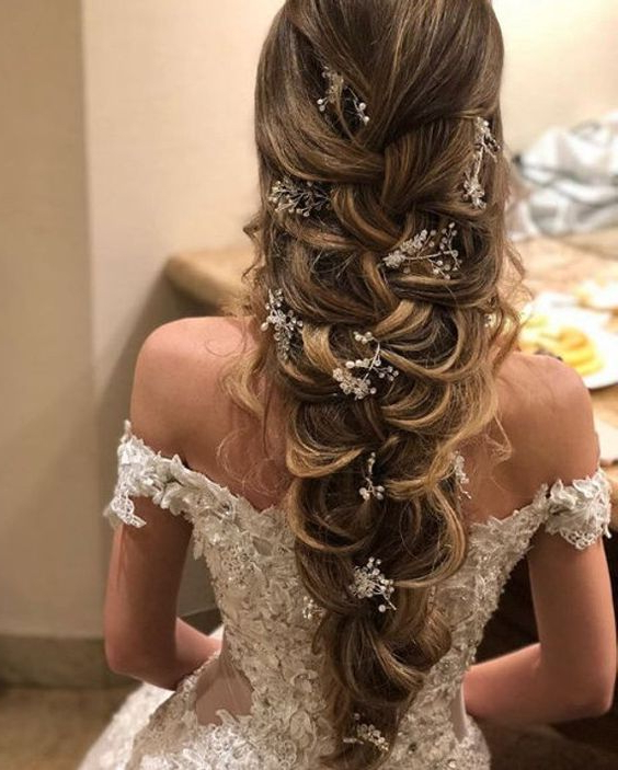 Stunning Bridal Hairstyles To Try In 2019 Throughout Well Liked Loose Historical Braid Hairstyles (View 18 of 20)