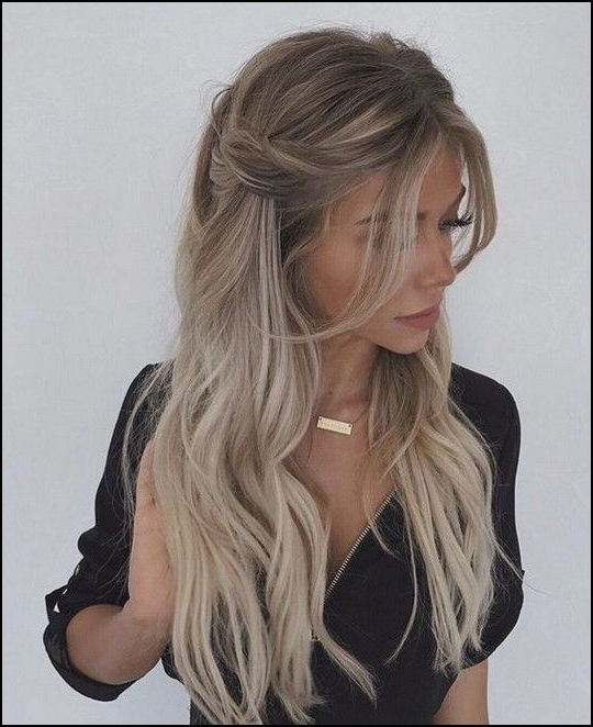 Stylish Prom Hairstyles Half Up Half Down In Widely Used Loose Highlighted Half Do Hairstyles (View 9 of 20)
