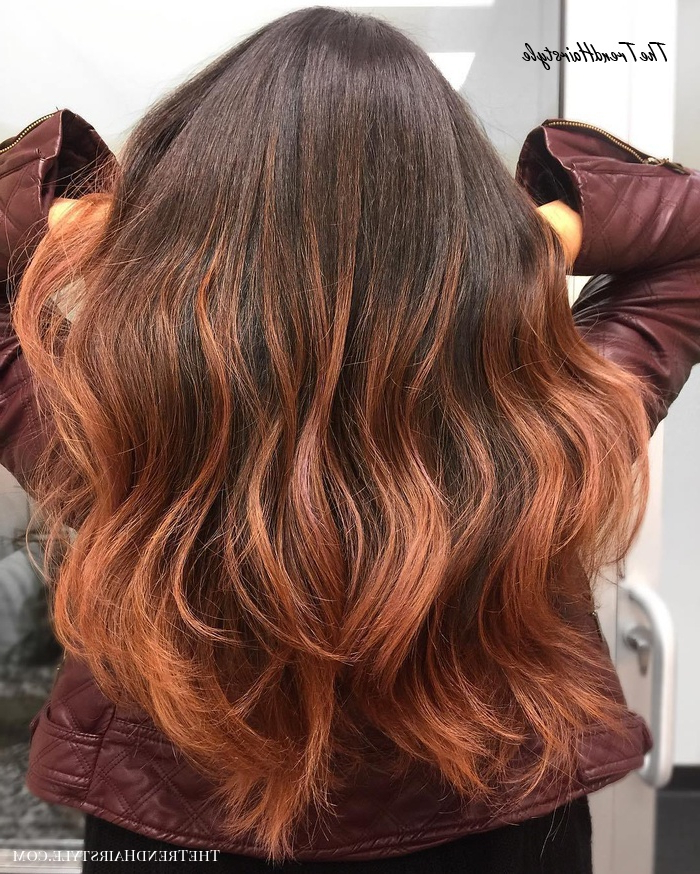 Subtle Ashy Brown – 20 Natural Looking Brunette Balayage For Preferred Copper Curls Balayage Hairstyles (View 15 of 20)