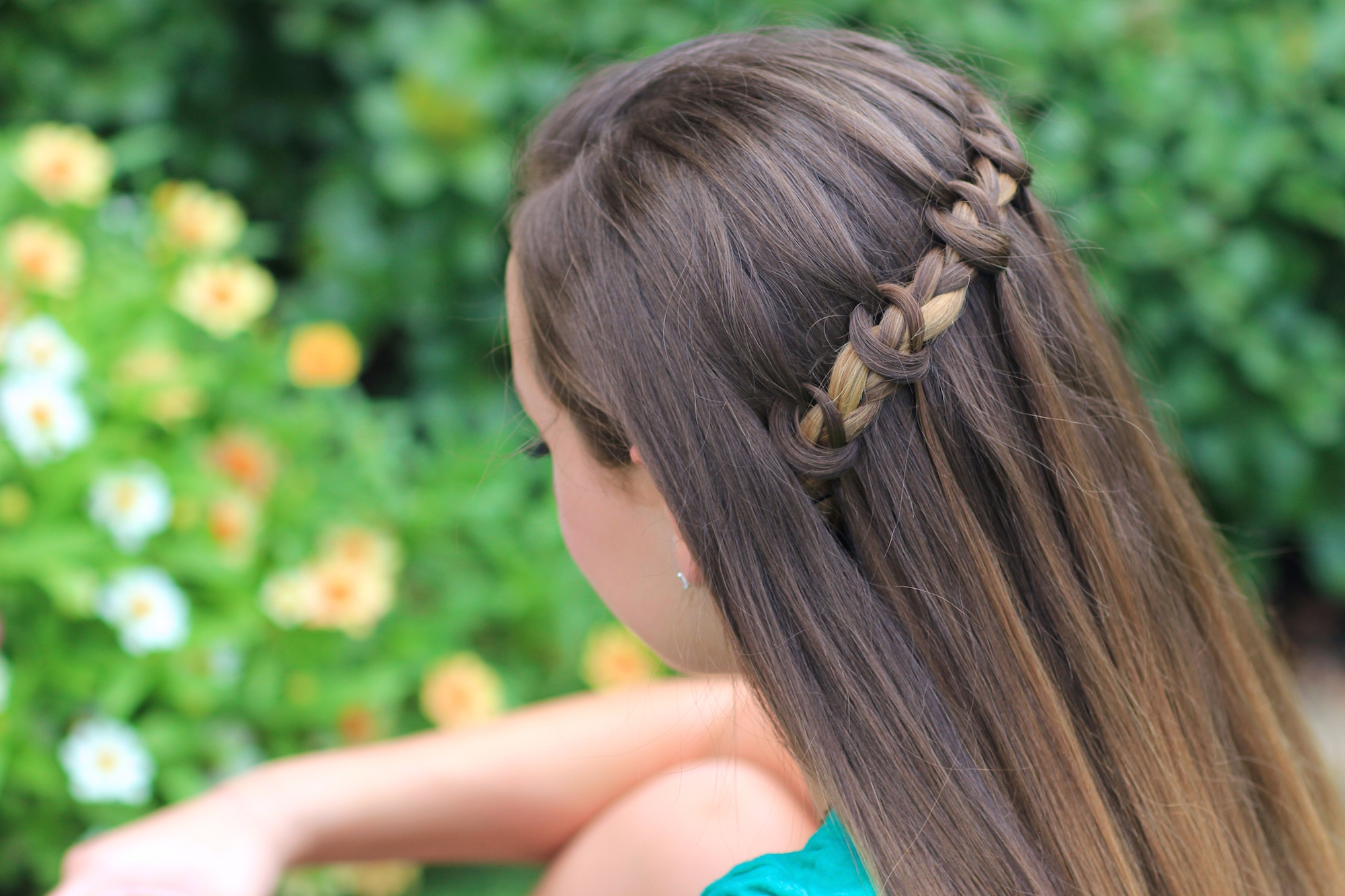 The Knotted Waterfall Braid – Cute Girls Hairstyles For Current The Waterfall Braid Hairstyles (View 5 of 20)
