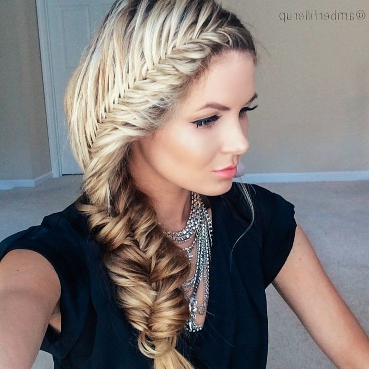 Top 21 Fishtail Braid Hairstyles You'll Love! Intended For Most Popular Boho Fishtail Braid Hairstyles (View 14 of 20)