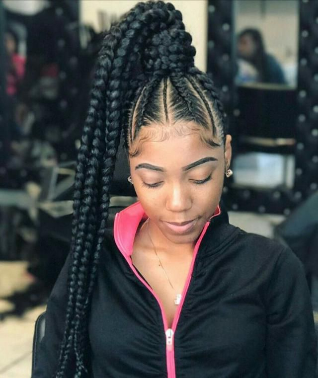 Top 30 Braided Ponytails With Color On Natural Hair For With Most Up To Date High Ponytail Braided Hairstyles (View 5 of 20)