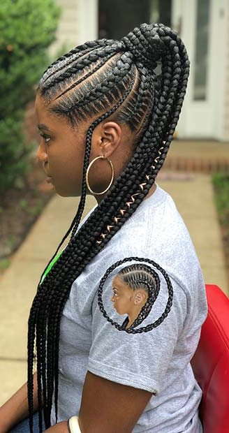 Top Braided Ponytail Hairstyles 2019 For Black Women For Popular High Ponytail Braided Hairstyles (View 3 of 20)