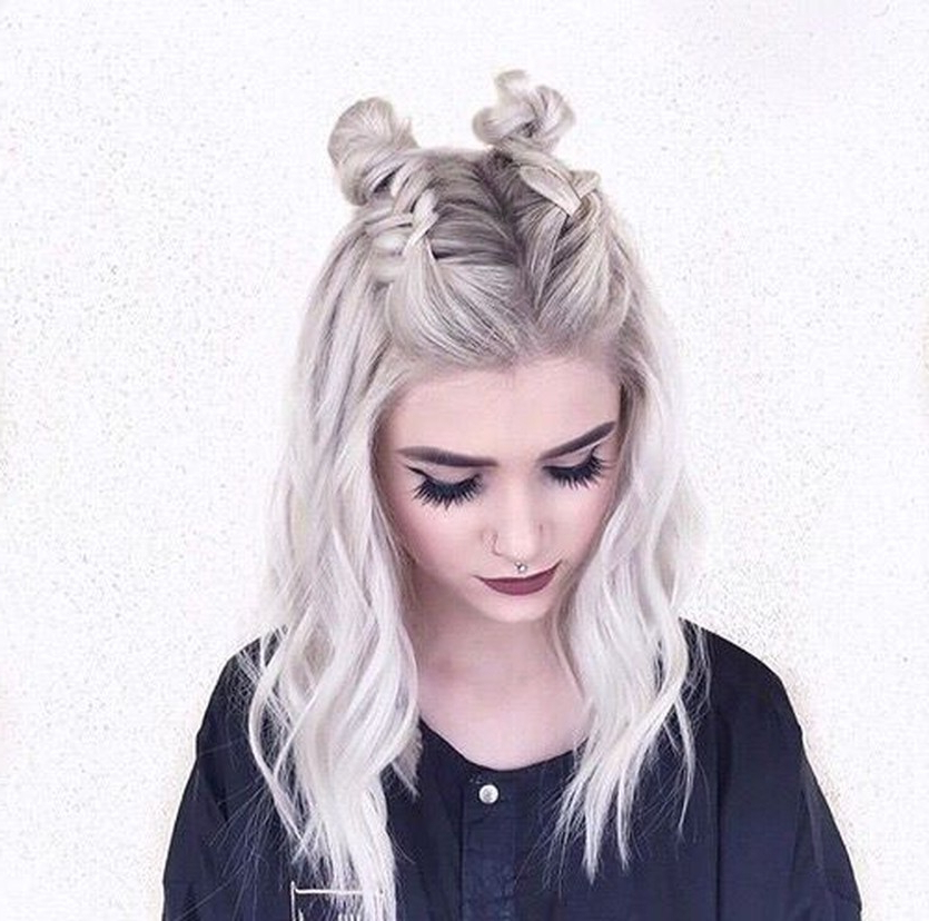 Trend Watch – Mohawk Braid Into Top Knot Half Up In Most Up To Date Braided Top Knot Hairstyles (View 14 of 20)