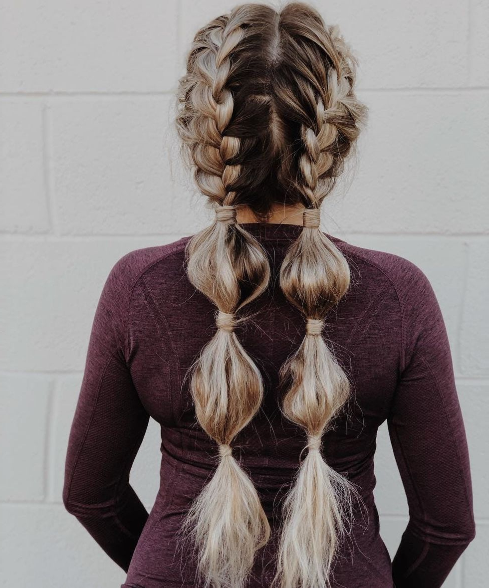 Trendy Braid Tied Updo Hairstyles Intended For 9 Bubble Braids That'll Have You Reaching For Your Hair (View 16 of 20)