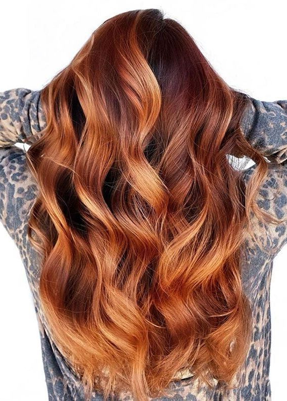 Trendy Copper Curls Balayage Hairstyles Regarding Best Copper Balayage Hair Color Shades To Show Off (View 5 of 20)