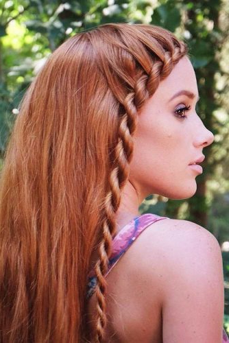 Truly Impressive Rope Braid Hairstyle (View 11 of 20)