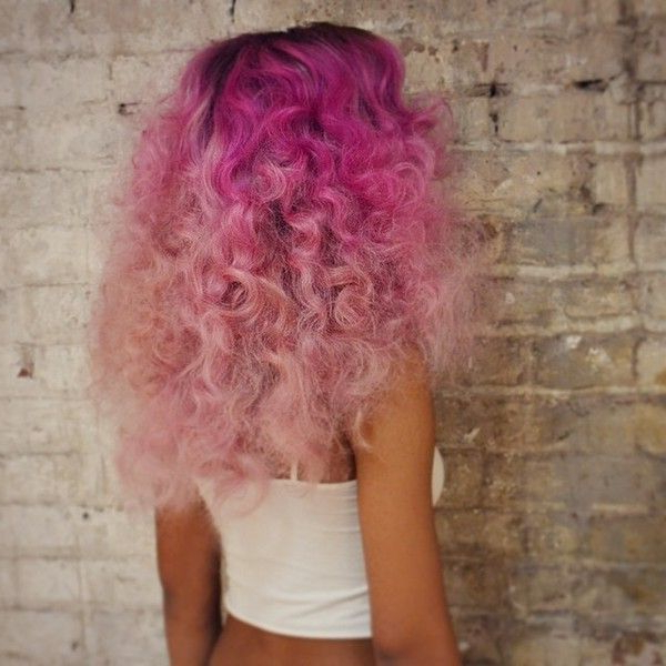 Featured Photo of Hot Pink Highlights On Gray Curls Hairstyles
