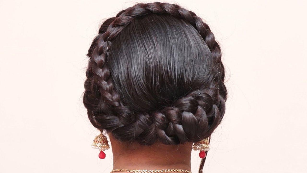 Twisted Crown Braid Updo Hair Tutorial (View 15 of 20)
