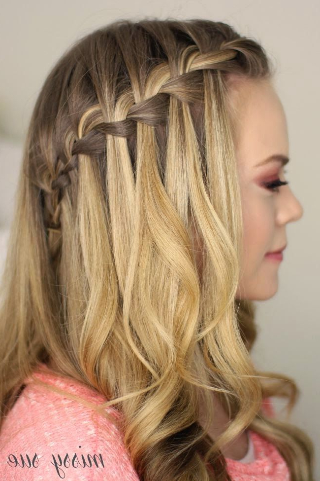 Waterfall Braid Hairstyle (View 12 of 20)