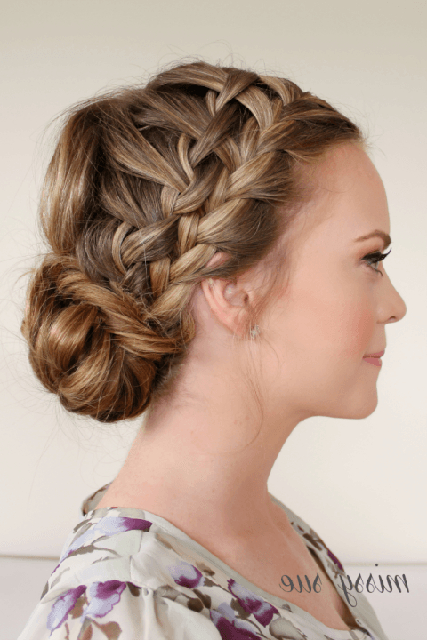 Well Known Double Braided Single Fishtail Braid Hairstyles Regarding Braid 10 Double Waterfall Braids And Fishtail Bun (View 10 of 20)