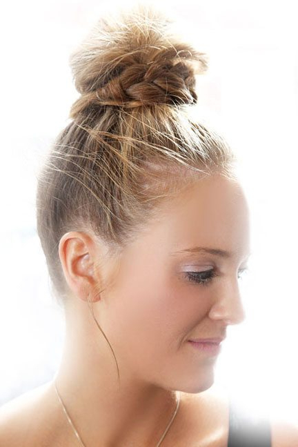 Well Known Knotted Braided Updo Hairstyles Intended For 15 Top Knot Hairstyles For Women – Look Modish And (View 3 of 20)