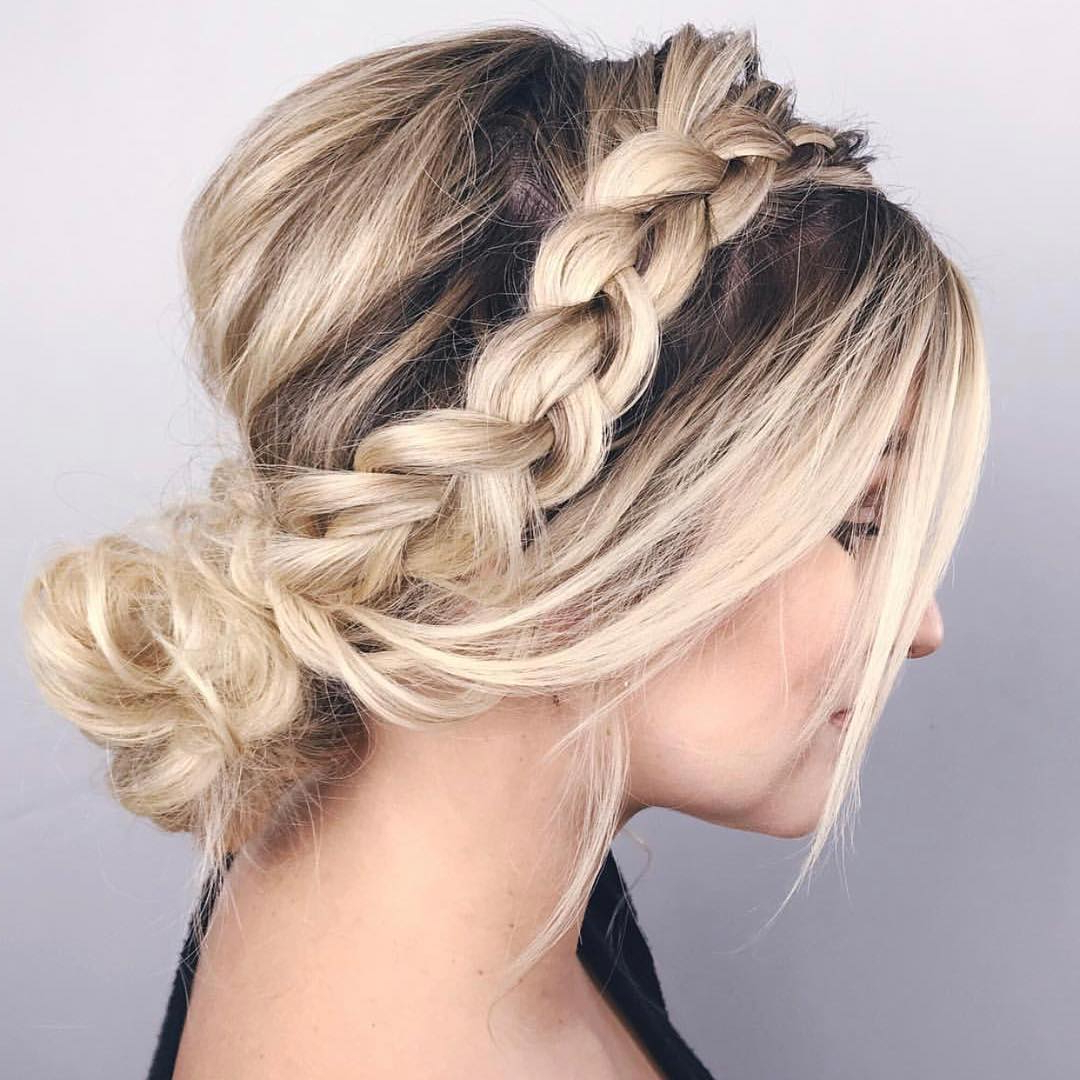 Well Known Messy Elegant Braid Hairstyles Regarding 50 Lovely Updo Hairstyles That Are Trendy For (View 4 of 20)