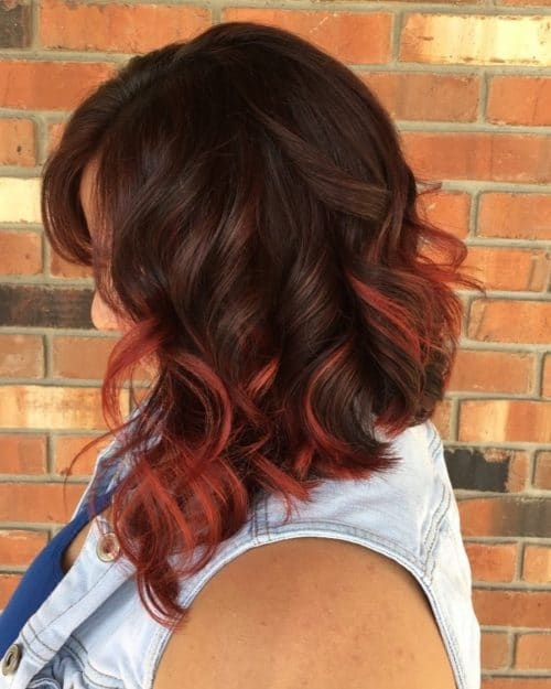 Well Known Red Highlights For Type 3c Hairstyles With Regard To 30 Brown Hair Color Ideas With Red Highlights In (View 7 of 20)