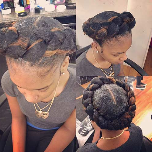 Well Liked Intricate Braided Updo Hairstyles With 20 Beautiful Braided Updos For Black Women (View 15 of 20)
