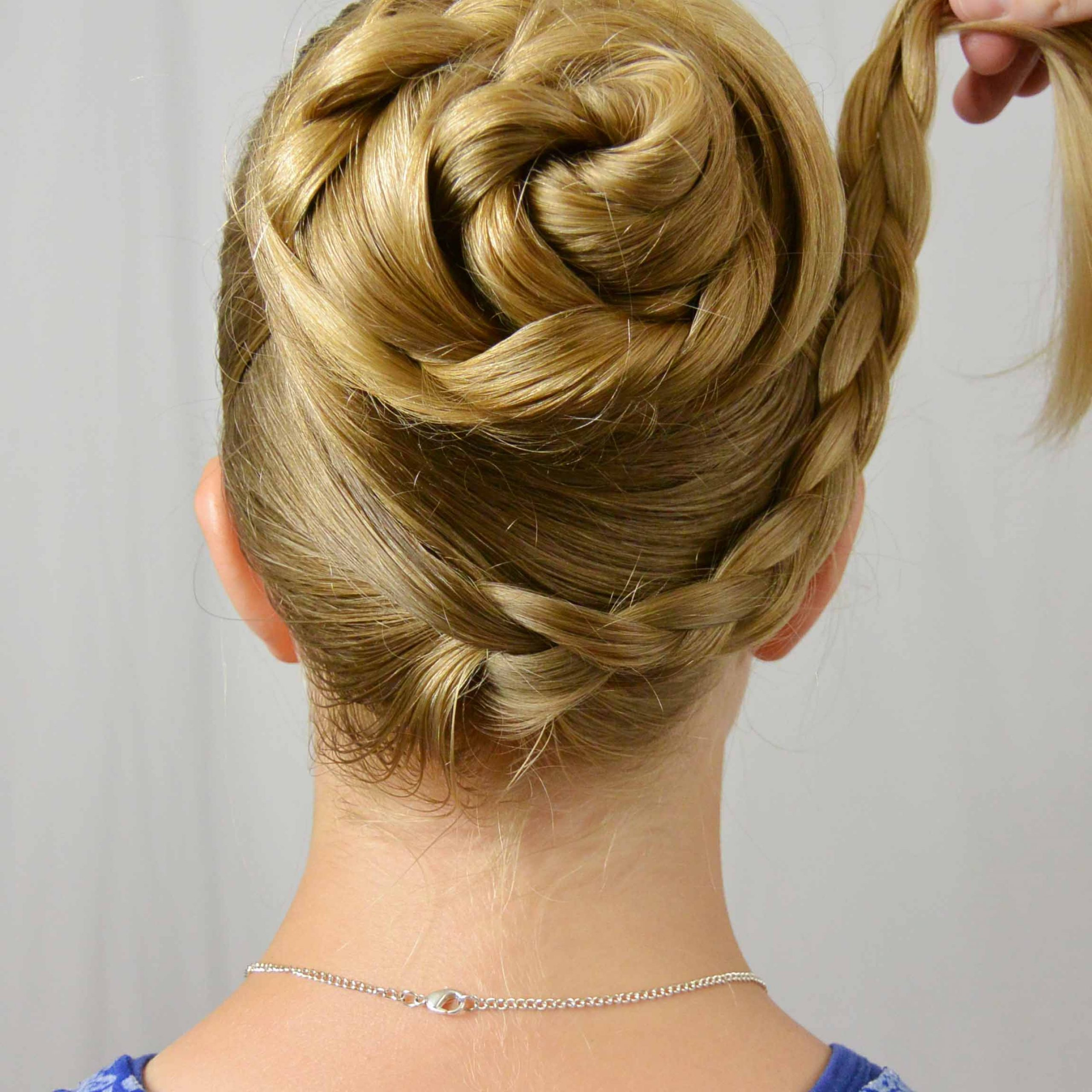 Well Liked Reverse Braided Buns Hairstyles Intended For Swept Up Braided Bun – Babes In Hairland (View 5 of 20)