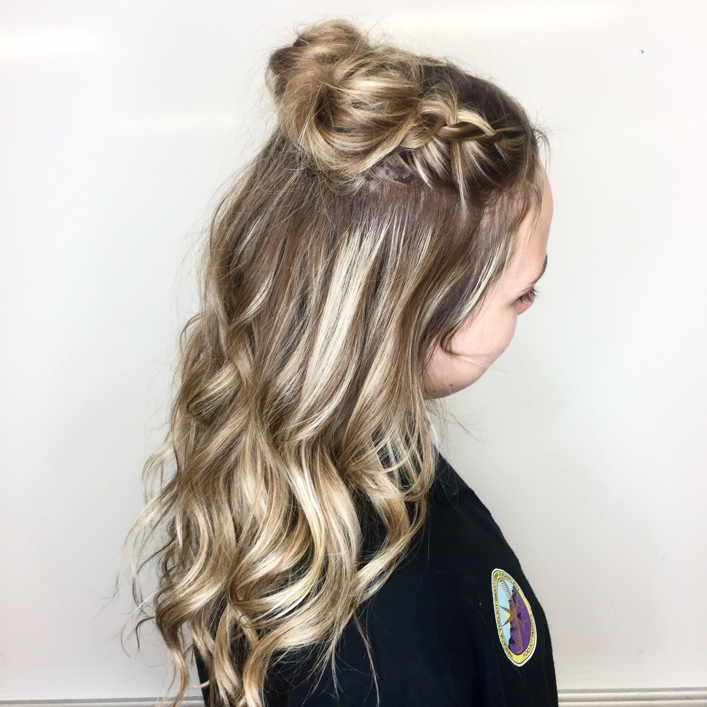 Well Liked Rope Half Braid Hairstyles Pertaining To Dutch Braid Mini Buns Half Up Half Down Hairstyle (View 8 of 20)