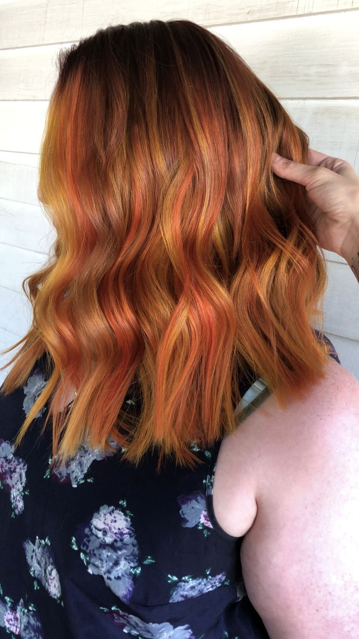Widely Used Copper Curls Balayage Hairstyles With Copper Balayage, #balayage #bobfrisurenbalayage #copper In (View 2 of 20)