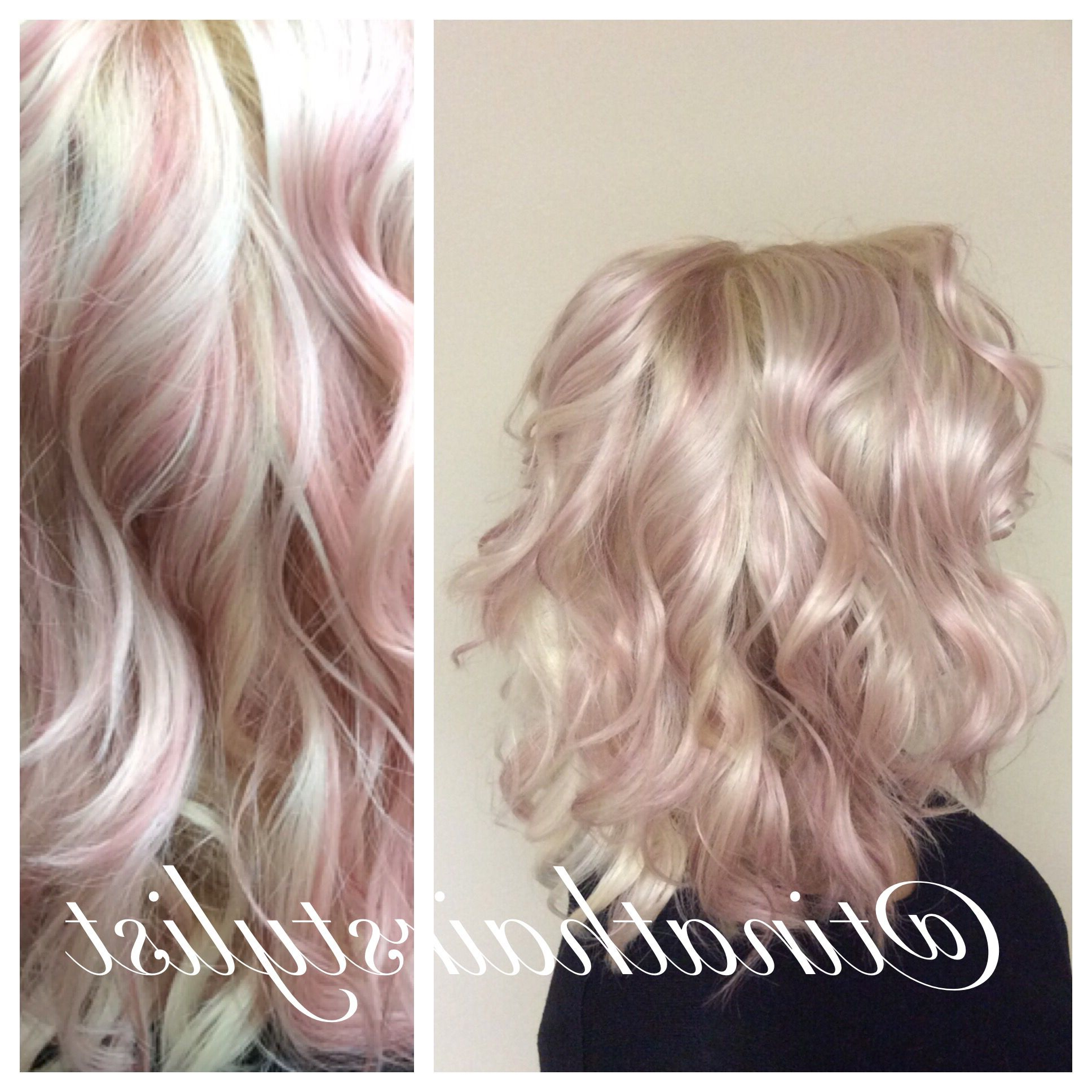 Widely Used Hot Pink Highlights On Gray Curls Hairstyles Regarding Insta: @tinathairstylist Pastel Pink Dream Highlights (View 17 of 20)
